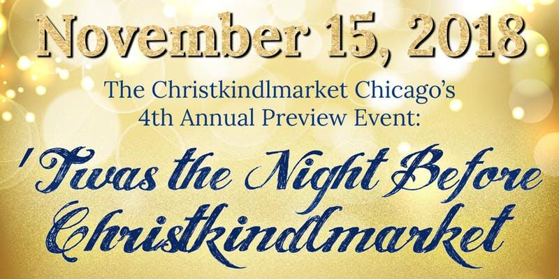 Christkindlmarket Preview Event 2018