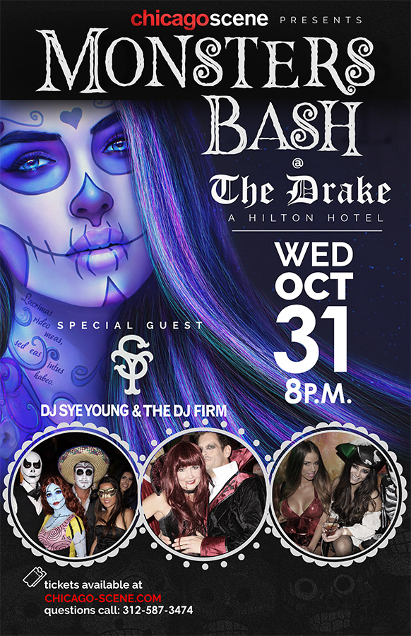 The Drake Monsters Bash Halloween Party Flyer