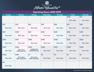 Winter WonderFest Calendar