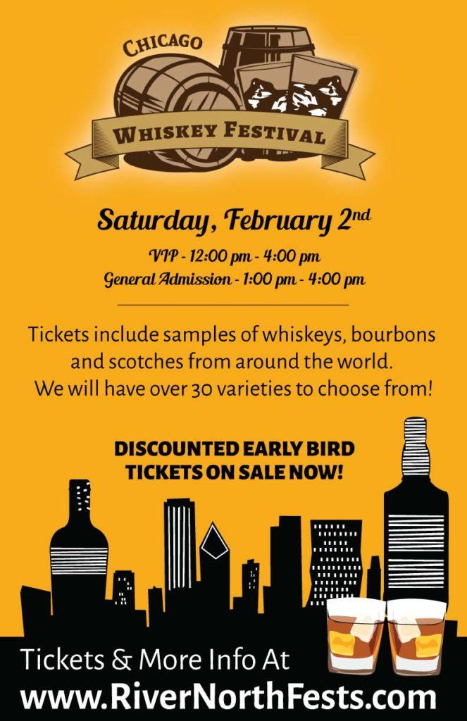 Chicago Whiskey Festival River North 2019 Flyer