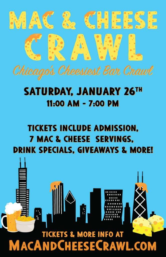 Mac & Cheese Bar Crawl Flyer