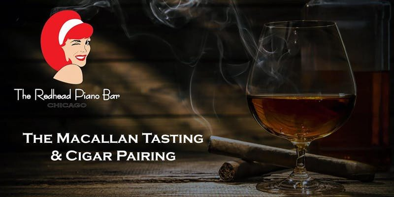 The Redhead Piano Bar Macallan Tasting & Cigar Pairing Flyer