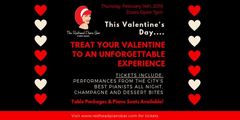 Valentine's Day Redhead Piano Bar