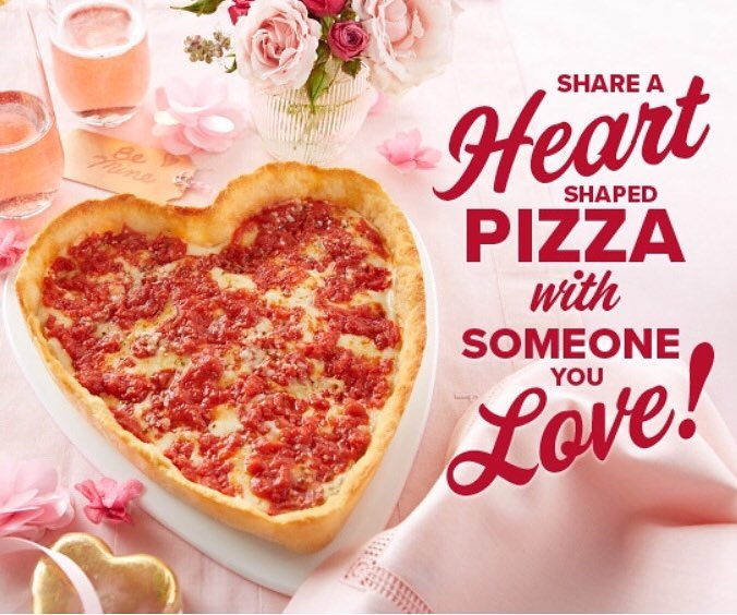 Lou Malnati's Heart Shaped Photo
