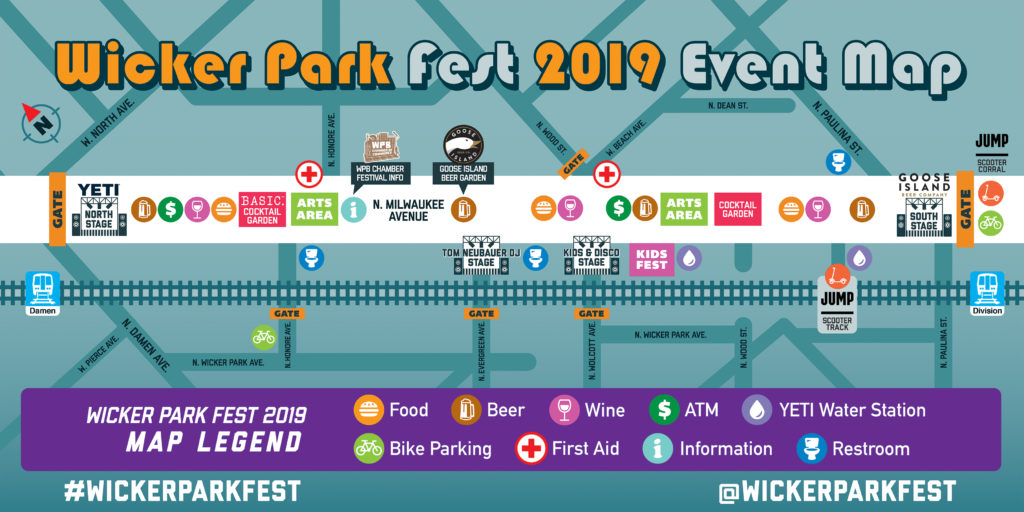 Wicker Park Fest 2019 Event Map