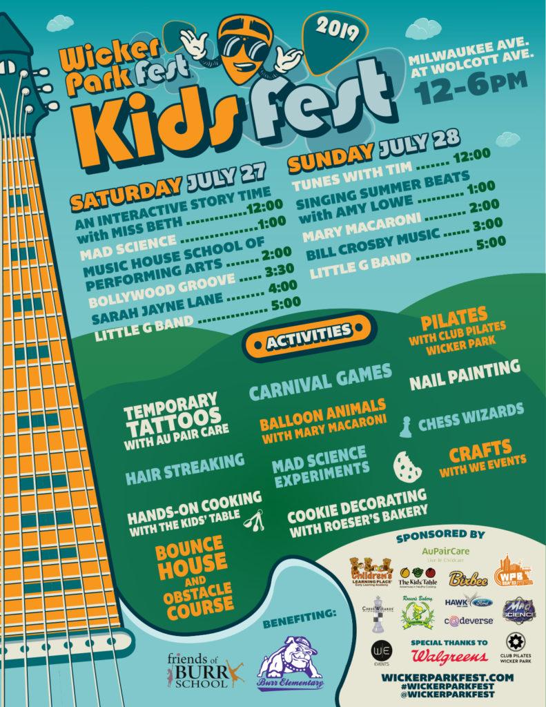 Wicker Park Fest Kids Lineup