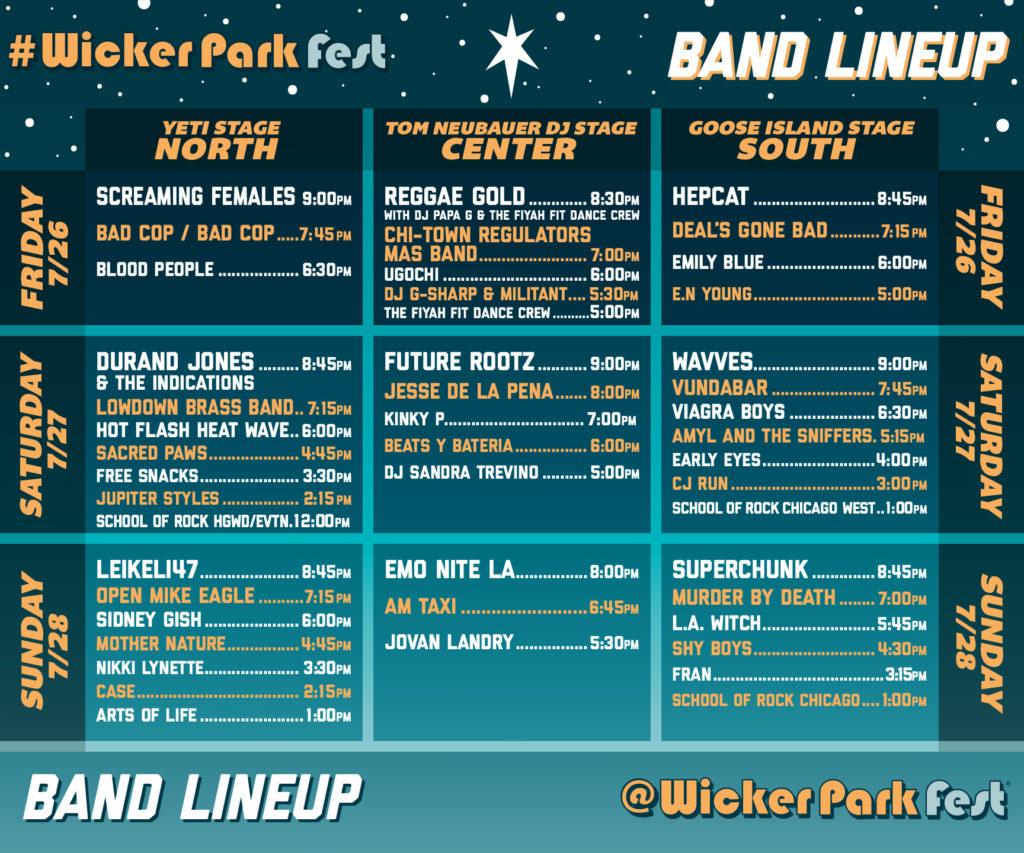 Wicker Park Fest 2019 Lineup