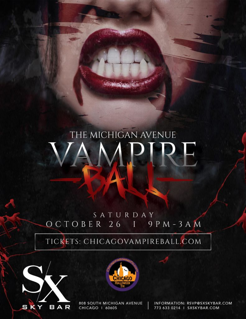 SX Sky Bar Vampire Ball Flyer