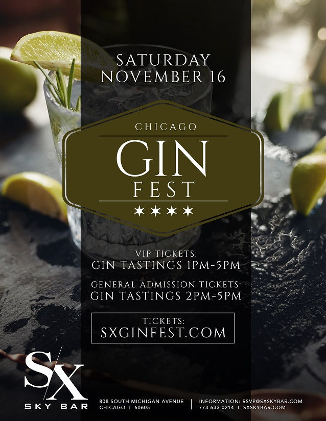 Chicago Gin Fest Flyer