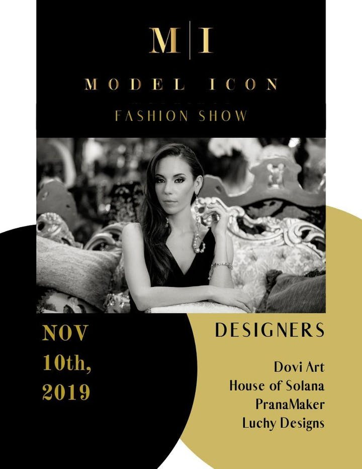 Elite Model Icon Fashion Show Flyer