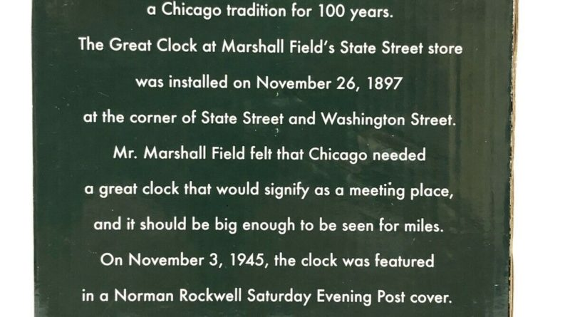 Marshall Field's Clock Back Box
