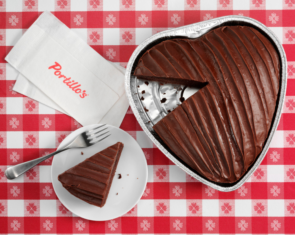 Portillo's Heart Shaped Cake