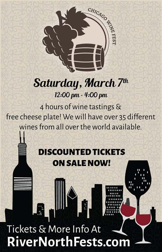 Chicago Wine Fest Flyer 2020